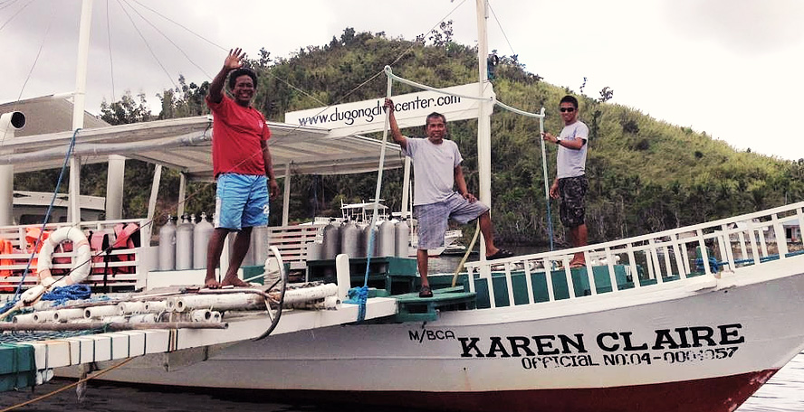 Dugong Dive Center's Karen Claire boat
